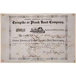 Pennsylvania Turnpike Company 1852 Stock Certificate  [127396]