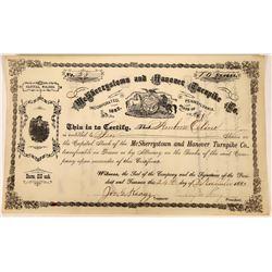 Early Pennsylvania Turnpike Company Stock Certificate  [127390]