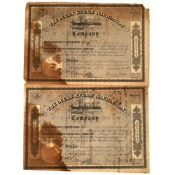 Ocean Steam Navigation Company Stocks, Philadelphia, 1861 (2)  [128586]