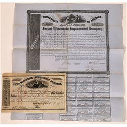 Fox & Wisconsin Improvement Company Stock & Bond  [113946]