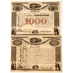 Orinoco Steam Navigation Company Bonds, 1848 and 1852 (Earliest Date) Issued to Co President  [12858