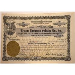Lusitania Salvage Stock Certificate, 1924  [131086]