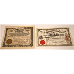 Two Submarine Stocks Including American Submarine, 1871  [131089]