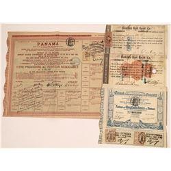 Panama Canal & Railroad Stock Group (4)  [128635]