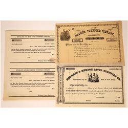 Three Unissued Turnpike Stock Certificates  [127376]