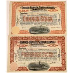 United States Shipbuilding Company Common & Preferred Stocks, 1902  [128633]