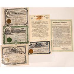 Montana Animal Related Stock Certificates  [129641]