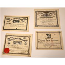 Cattle & Land Company Stock Certificates  [113900]