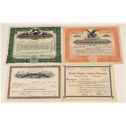 Rare Crocker Signed Northern California Inland Stock Certs  [128955]