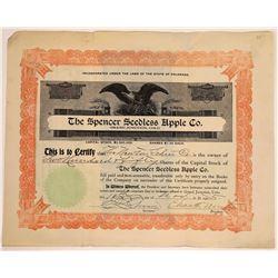 Spencer Seedless Apple Co. Stock Certificate  [113987]