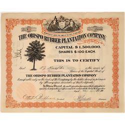 Obispo Rubber Plantation Company Stock Certificate  [127352]