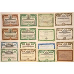 """""""Anglo"""" Family of Banks Stock Certificate Collection  [107912]"""
