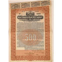 Rocky Mountain Bank Note Company Bond  [113933]