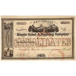 Morris Canal & Banking Company of 1844, Consolidated Stock, Issued 1858  [128591]