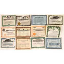 Midwestern Securities Firms Stock Certificate Group  [113909]