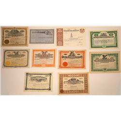 Montana, Utah, & Wyoming Bank Stock Certificates  [107915]