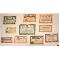 Western Securities Firms Stock Certificate Group  [113908]