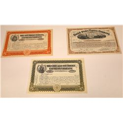 Three Different Express Company Stock Certificates  [107907]