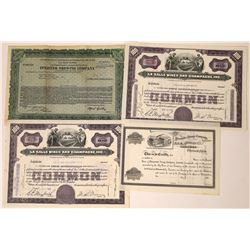 Wine & Beer Related Stock Certificate Group  [113848]