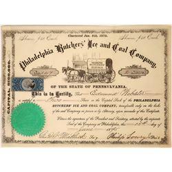 Philadelphia Butchers' Ice and Coal Company Stock Certificate  [127353]