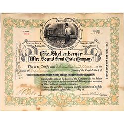 Schellenberger Wire Bound Fruit Crate Co. Stock Certificate  [127345]