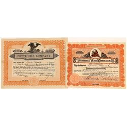 Pettijohn Pure Products Stock Certificates (2)  [127355]