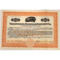 Yellowstone Packing & Provision Company Stock, 1926  [123947]