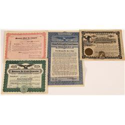 Ice and Ice Cream Company Stock Certificates  [129784]