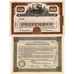 Yosemite Portland Cement Corp. Stock Certificates (2)  [127691]