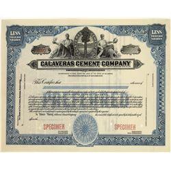 Rare Cement Company Stock Specimen  [129781]