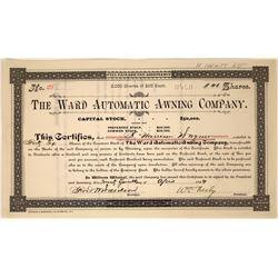 Ward Automatic Awning Company Stock Certificate (1)  [127350]