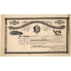 The Woodbury Patent Planing Machine Company Stock Certificate  [127409]