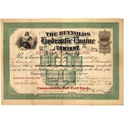 Hydraulic Engine Company 1870 Stock Certificate  [127424]