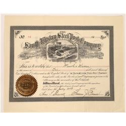 South-Western Steel Post Company Stock Certificate  [129643]