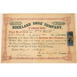 Maine Shoe Company 1872 Stock Certificate  [127414]