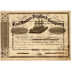 East Boston Dry Dock Company Stock, 1854  [128603]