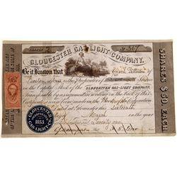 Gloucester Gas Light Company Stock Certificate  [128763]