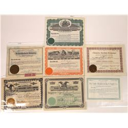Montana Manufacturing Products Stock Certificates  [129642]