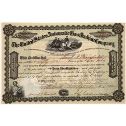 The United State Automatic Gas Machine Co. Stock Certificate  [122421]