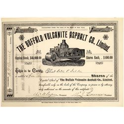 The Buffalo Vulcanite Asphalt Co. Stock Certificate  [128959]