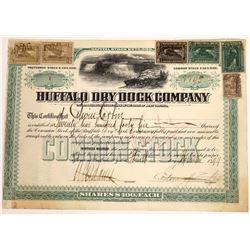 Buffalo Dry Dock Stock Certificate #1, New York, 1899  [129500]