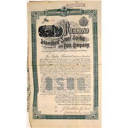 Richmond Steel Spike and Iron Company Bond [127426]
