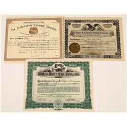 Canning and Can Company Stock Certificates (3)  [128953]