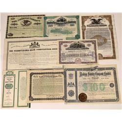 Pennsylvania Stock Certificates (8)  [127405]