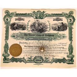 Enamel Concrete Company Stock Certificate (1)  [127748]