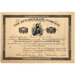 The Dynamograph Co. of the United States Stock Certificate, 1889  [128821]