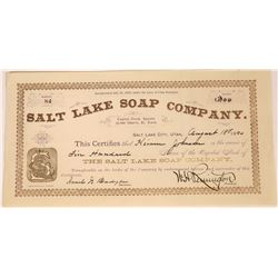 Utah Territorial Soap Company Stock Certificate  [127415]