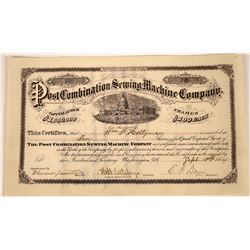 Early Sewing Machine Company Stock Certificate  [127423]