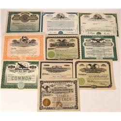 10 Pen & Pencil Company  Stock Certificates  [127384]