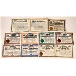 11 Linen & Loom Company Stock Certificates  [127382]